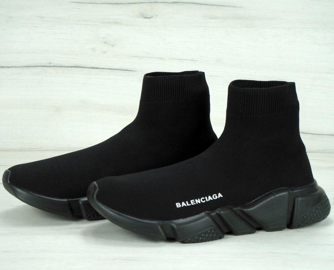 Кроссовки женские (для бега) Balenciaga Speed Trainer черные (Top replic)