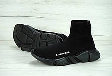 Кроссовки женские (для бега) Balenciaga Speed Trainer черные (Top replic), фото 2