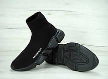 Кроссовки женские (для бега) Balenciaga Speed Trainer черные (Top replic), фото 3