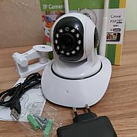 Беспроводная IP смарт камера с датчиком движения, ночным видением и панорамным обзором/ Wi-Fi