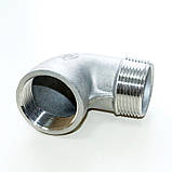 Колено резьбовое нержавеющее вн/нар G1/4'' AISI304 Ду08, фото 8