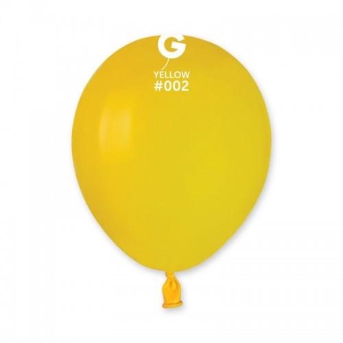"Латексна кулька пастель жовтий  5"" / 02 / 13см Yellow"