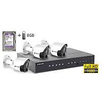 Комплект видеонаблюдения BALTER KIT 2MP 3Bullet (3 наружных камеры)