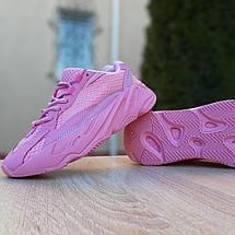 Кроссовки женские Adіdas Yeezy 700 V2 розовые (Top replic), фото 2