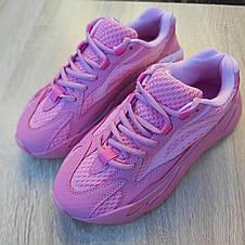 Кроссовки женские Adіdas Yeezy 700 V2 розовые (Top replic), фото 3