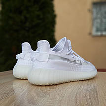 Кроссовки женские Adіdas Yeezy Boost 350 V2 белые (Top replic), фото 3