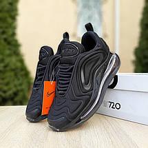 Кроссовки женские Nike Air Max 720 черные (Top replic), фото 2