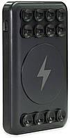 Беспроводное зарядное устройство Qitech Sticky Powerbank5000 мАч| повербанк с присосками черный, фото 1