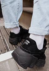 Кроссовки женские Fila черные (Top replic), фото 3