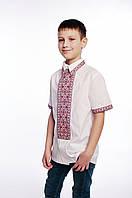 Вишиванка для хлопчиків/ Вышиванка для мальчиков арт. 453-17/09 червона