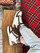 Кроссовки женские Louis Vuitton Sneakers белые-коричневые (Top replic), фото 4
