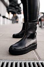 Кроссовки женские Puma by Rihanna Chelsea sneaker boot черные (Top replic), фото 3