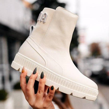 Кроссовки женские Puma by Rihanna Chelsea sneaker boot белые (Top replic), фото 2