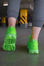 """Кроссовки женские Fila Disruptor 2 """"Green Neon""""  зеленые (Top replic), фото 2"""