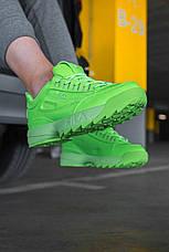 """Кроссовки женские Fila Disruptor 2 """"Green Neon""""  зеленые (Top replic), фото 3"""