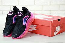 Кроссовки женские Nike Air Max 720 черные-розовые (Top replic), фото 3