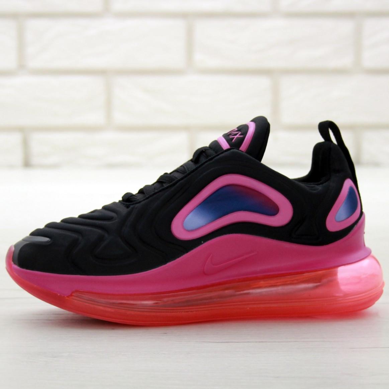 Кроссовки женские Nike Air Max 720 черные-розовые (Top replic)