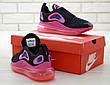 Кроссовки женские Nike Air Max 720 черные-розовые (Top replic), фото 2