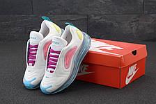 Кроссовки женские Nike Air Max 720 белые-розовые (Top replic), фото 2