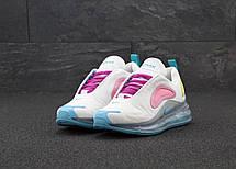 Кроссовки женские Nike Air Max 720 белые-розовые (Top replic), фото 3