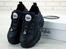 Кроссовки женские Buffalo LondoN платформа черные (Top replic), фото 2