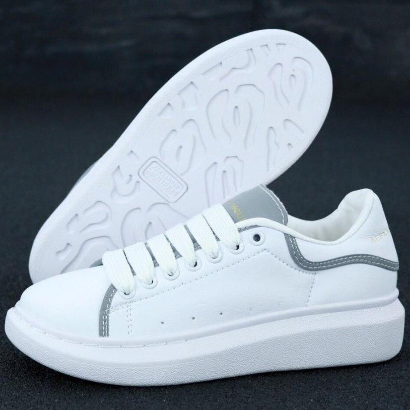 Кросівки жіночі Alexander McQueen ( Рефлектив ) білі (Top replic)