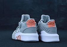 Кроссовки женские Adidas EQT Bask ADV серые (Top replic), фото 3
