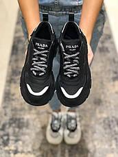 Кроссовки женские Prada Chunky черные (Top replic), фото 2