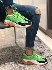 Кроссовки женские Versace Cross Chainer зеленые (Top replic), фото 2