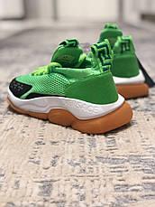 Кроссовки женские Versace Cross Chainer зеленые (Top replic), фото 3