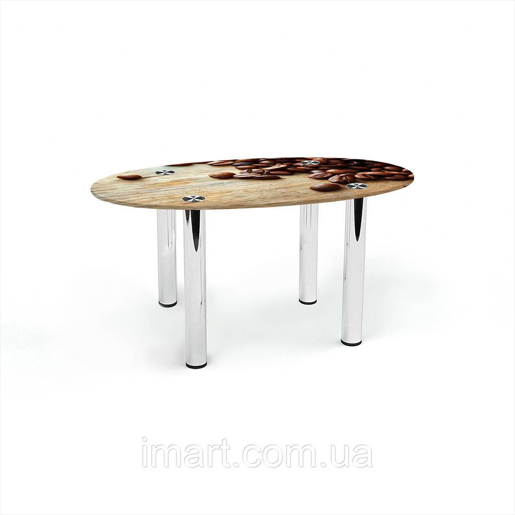 Журнальный стол овальный Coffee стеклянный