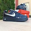 Кроссовки мужские Nike Air Force 1 Mid LV8 черные низкие (Top replic), фото 2