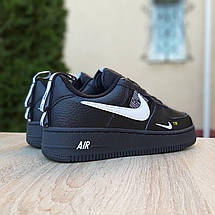 Кроссовки мужские Nike Air Force 1 Mid LV8 черные низкие (Top replic), фото 3