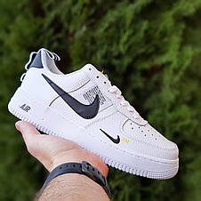 Кроссовки мужские Nike Air Force 1 Mid LV8 белые низкие (Top replic), фото 3