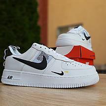 Кроссовки мужские Nike Air Force 1 Mid LV8 белые низкие (Top replic), фото 2