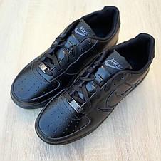 Кроссовки мужские Nike Air Force 1 низкие черные (Top replic), фото 2