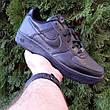 Кроссовки мужские Nike Air Force 1 низкие черные (Top replic), фото 4
