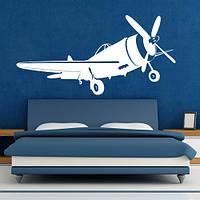 Трафарет самолета в детскую комнату 95 х 190 см