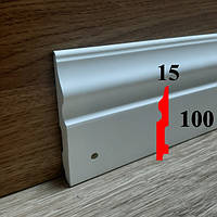 Гибкий интерьерный плинтус 15х100, длина 2,44 м, фото 1