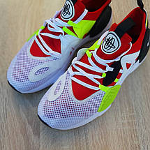 Кроссовки мужские Nike Huarache EDGE белые с красным (Top replic), фото 2