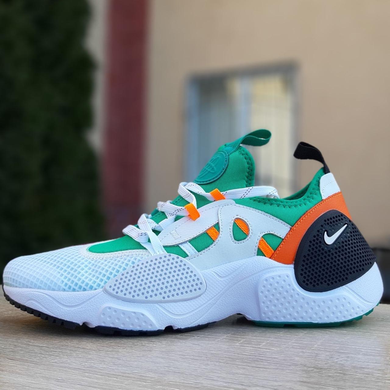Кроссовки мужские Nike Huarache EDGE белые с зелёным (Top replic)