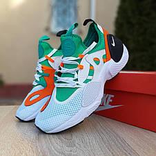 Кроссовки мужские Nike Huarache EDGE белые с зелёным (Top replic), фото 2