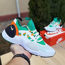 Кроссовки мужские Nike Huarache EDGE белые с зелёным (Top replic), фото 3