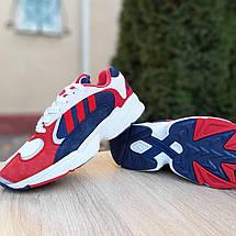 Кроссовки мужские Adіdas Yung красные с синим (Top replic), фото 3