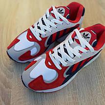 Кроссовки мужские Adіdas Yung красные с синим (Top replic), фото 2