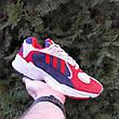 Кроссовки мужские Adіdas Yung красные с синим (Top replic), фото 6