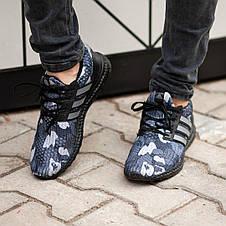 Кроссовки мужские Adіdas Ultra Boost серые-камуфляж (Top replic), фото 3