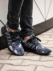 Кроссовки мужские Adіdas Ultra Boost серые-камуфляж (Top replic), фото 2