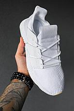 Кроссовки мужские Adidas Prophere белые (Top replic), фото 2