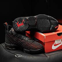 Кроссовки мужские Nike Air Max LeBron черные с красным (Top replic), фото 3
